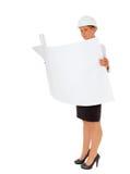 Full length female architect Stock Image