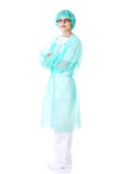 Full length female doctor with folded arms Royalty Free Stock Image