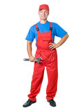 Full-length figure of repairman Royalty Free Stock Photo