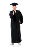 Full length graduation man Stock Photo