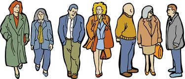 Full length group people Stock Images