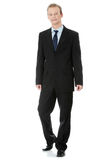 Full length of a handsome business man Stock Images
