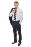 Full length of handsome businessman Stock Images