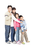 Full length of happy asian family Stock Image