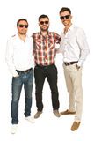 Full length of happy men friends Stock Photos