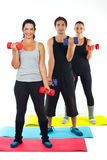 Full length of happy team doing fitness Royalty Free Stock Images