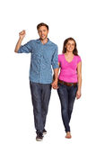 Full length of happy young couple Stock Photography