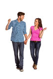 Full length of happy young couple Stock Image