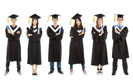 Happy  young graduate students group Royalty Free Stock Photos