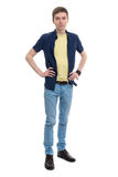 Full length of a happy young man Stock Image