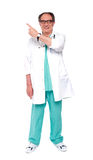 Full length image of doctor indicating up Royalty Free Stock Image
