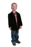 Full length image of a little boy on white Stock Photography