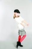 Full length of little blonde girl Royalty Free Stock Photos