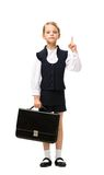Full length of little businesswoman with case Stock Photo