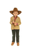 Full length of little cowboy Stock Photography