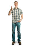 Full length man shows well done Stock Photography