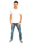 Full length of man in white t-shirt Stock Photography