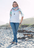 Full length model casual wear. Outdoors royalty free stock image
