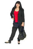 Full length of modern businesswoman Stock Photos