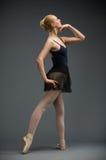 Full-length Of Dancing Ballerina Royalty Free Stock Photo