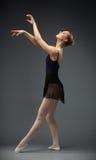 Full Length Of Dancing Female Ballet Dancer Stock Image