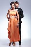 Full length photo of fashion couple Stock Images