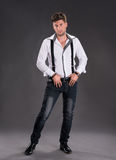 Full length photo of  handsome young man Royalty Free Stock Photography