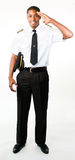 Full length photo of a pilot. Full length photo of a young pilot Stock Image