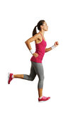 Full-length photo of running woman Stock Photography