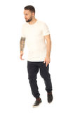 Full length picture of casual young man isolated Stock Photography