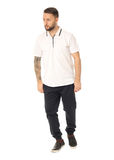 Full length picture of casual young man isolated Stock Photos