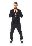 Full length picture of casual young man isolated Royalty Free Stock Photos