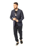 Full length picture of casual young man isolated Royalty Free Stock Images