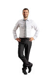 Full length picture of smiley young man Stock Photography