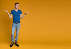 Full length picture of a young casual man Stock Photography