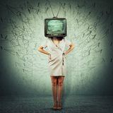 Television propaganda royalty free stock photo