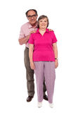 Full length portrait of an aged love couple Stock Photos