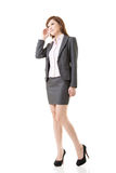 Full length portrait of Asian business woman Royalty Free Stock Images