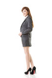 Full length portrait of Asian business woman Stock Images