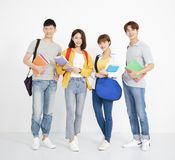 Full length portrait of college students royalty free stock photography