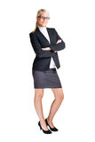 Full length portrait of attractive business woman. Stock Photography
