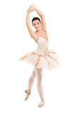 A full length portrait of a ballerina dancer Royalty Free Stock Images