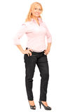 Full length portrait of a beautiful blond mature woman Stock Photography