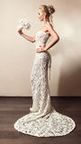 Full length portrait of a beautiful bride Royalty Free Stock Image