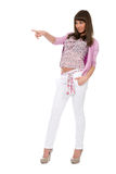 Full length portrait of beautiful casual girl Royalty Free Stock Photography