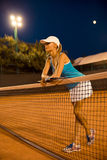 Full length portrait of a beautiful female tennis player Royalty Free Stock Photography