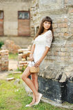 Full length portrait of a beautiful girl - outdoors Royalty Free Stock Photos