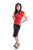 Full length portrait of beautiful middle aged woman Stock Images