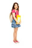 Beautiful girl holding books Royalty Free Stock Image