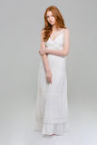 Full length portrait of a beautiful woman in dress Stock Image